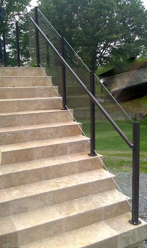 Diy glass railings do it yourself glass railingsfalcon for Exterior glass railing